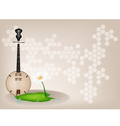 Musical dan nguyet background vector