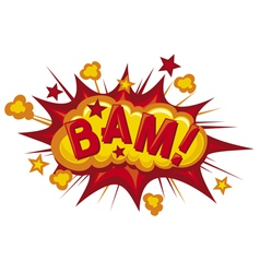 Cartoon - bam vector