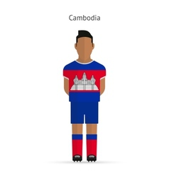 Cambodia football player soccer uniform vector