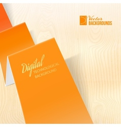 Folded origami paper vector image