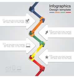 Infographic design template with elements and vector