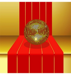 Disco ball on 3d step vector