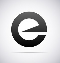 Logo for letter e vector