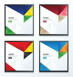 3 color of 4 styles template triangle set vector
