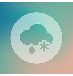 Cloud snow rain transparent icon weather vector
