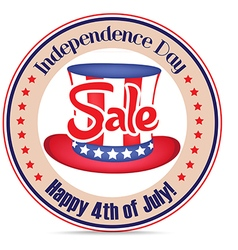4th of july sale text badge vector