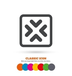 Enlarge or resize icon full screen extend vector
