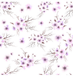 anemones seamless pattern a bouquet of delicate vector image vector image