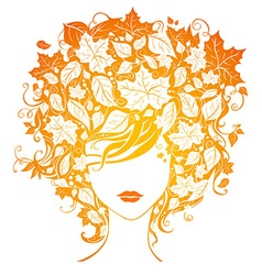 Autumn woman vector image vector image