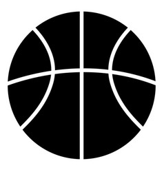 Basketball ball black silhouette icon vector