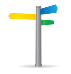 blank signpost vector image vector image