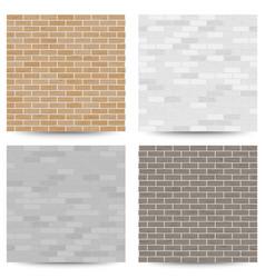 Brick wall seamless pattern set vector