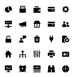 Business and Office Icons 3 vector image vector image