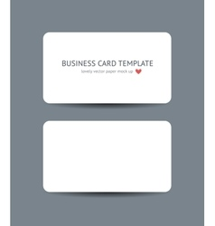 Business cards blank mockup template vector image vector image