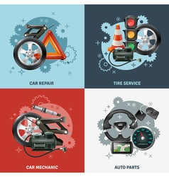 Car service concept icons set vector