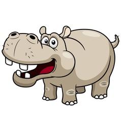 Cartoon hippopotamus vector