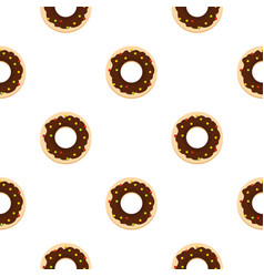 Chocolate donut pattern seamless vector