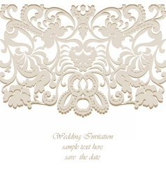 Classic wedding invitation card vector