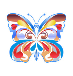 colorful butterfly color icon vector image