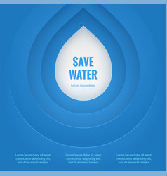 Eco design template save the water poster blue vector