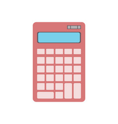electronic calculator icon in flat design vector image