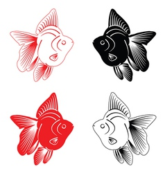 Fish Silhouette vector image vector image