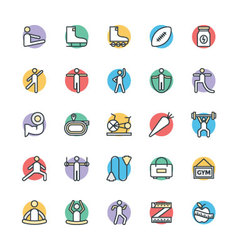 Fitness Cool Icons 3 vector image vector image