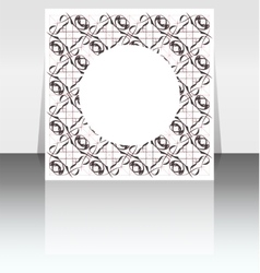 Folder design on vintage floral background vector