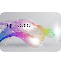 Futuristic gift card design vector
