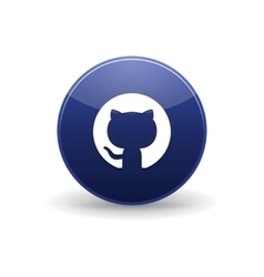 Github icon simple style vector image