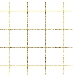 Gold foil glitter line stripes seamless pattern vector image