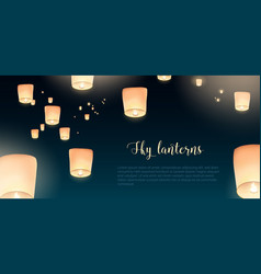 gorgeous horizontal banner with glowing kongming vector image vector image