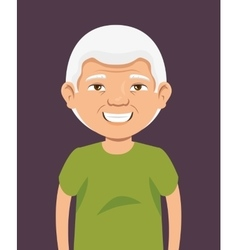 Grandpa avatar character icon vector