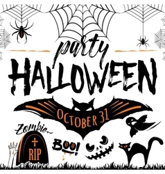 Halloween party celebration vector