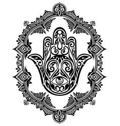 Hamsa hand vector image