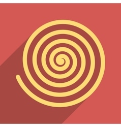 Hypnosis flat long shadow square icon vector