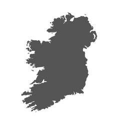 Ireland map black icon on white background vector