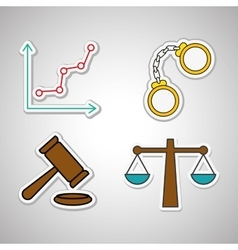 law and justice icon design vector image vector image