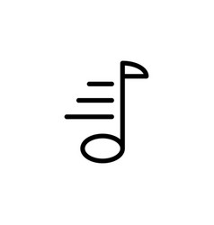 line music note icon on white background vector image vector image