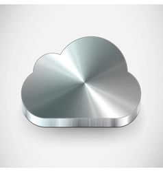 metal cloud icon vector image vector image