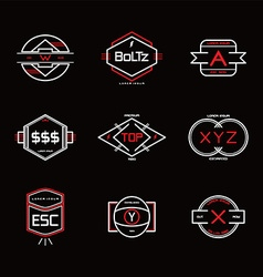 modern vintage logo template vector image vector image