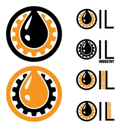 oil industry logo vector image