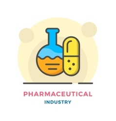 Pharmaceutical industry concept vector