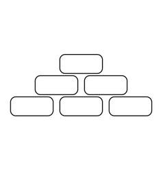 Pyramid black color path icon vector