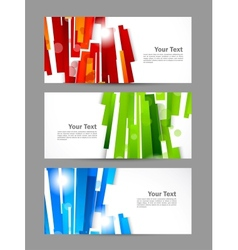 Set of banners with straight lines vector image vector image