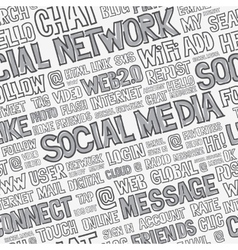Social Media Words Seamless Pattern vector image vector image
