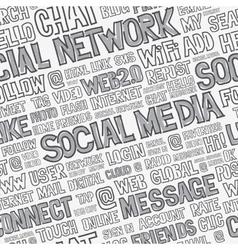 Social media words seamless pattern vector