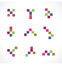Square figures vector