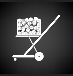 Tennis cart ball icon vector