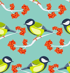 Tit seamless pattern vector